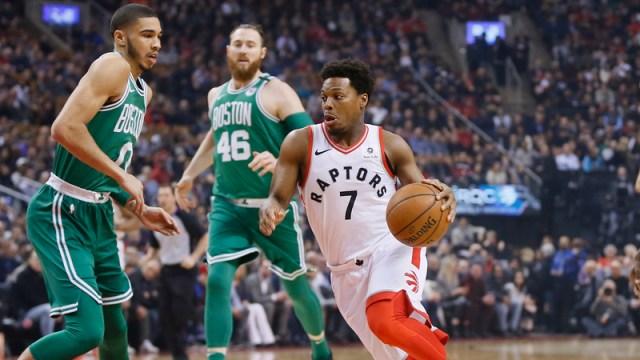Toronto Raptors Point Guard Kyle Lowry and Boston Celtics Small Forward Jayson Tatum