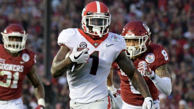 Georgia Bulldogs running back Sony Michel