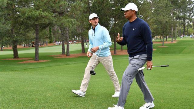 Tiger Woods and Matt Parziale