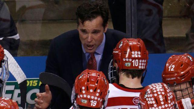 Boston University hockey head coach David Quinn