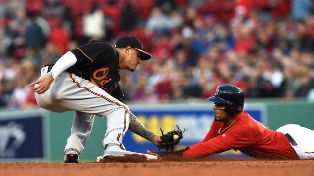 Baltimore Orioles Shortstop Manny Machado And Boston Red Sox Shortstop Xander Bogaerts