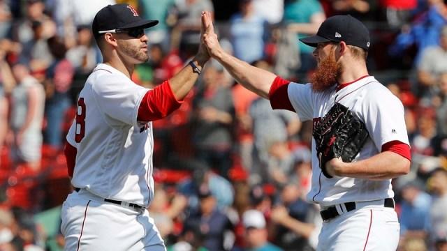Boston Red Sox Right Fielder J.D. Martinez And Closer Craig Kimbrel