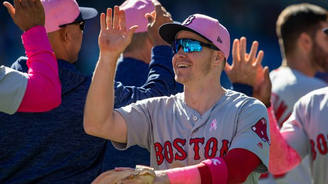 Boston Red Sox infielder Brock Holt