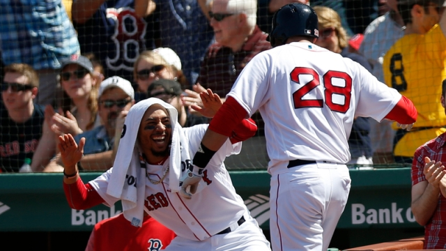 Boston Red Sox Right Fielder Mookie Betts And Designated Hitter J.D. Martinez