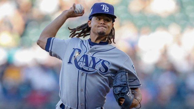 Tampa Bay Rays starting pitcher Chris Archer