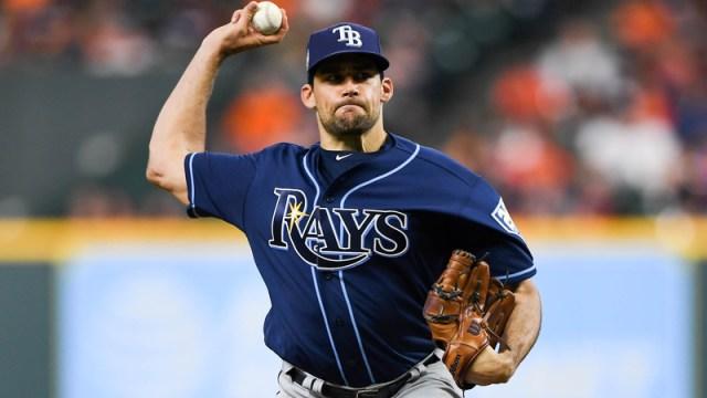 Rays pitcher Nathan Eovaldi