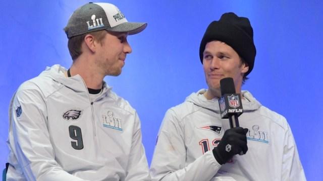 Nick Foles and Tom Brady