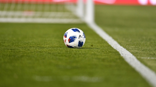 General view of soccer ball