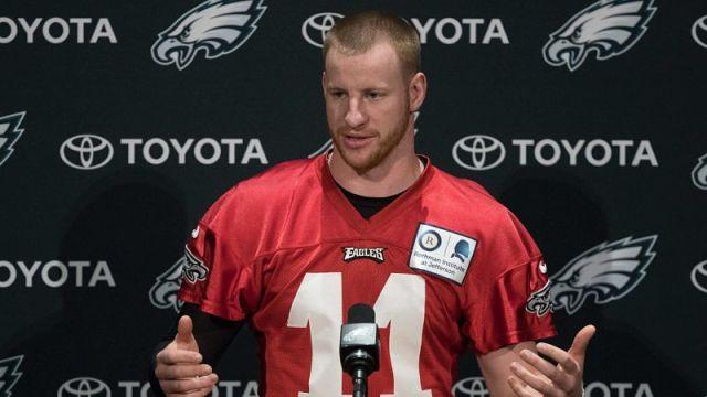Philadelphia Eagles quarterback Carson Wents
