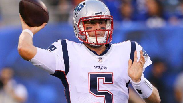 New England Patriots quarterback Danny Etling