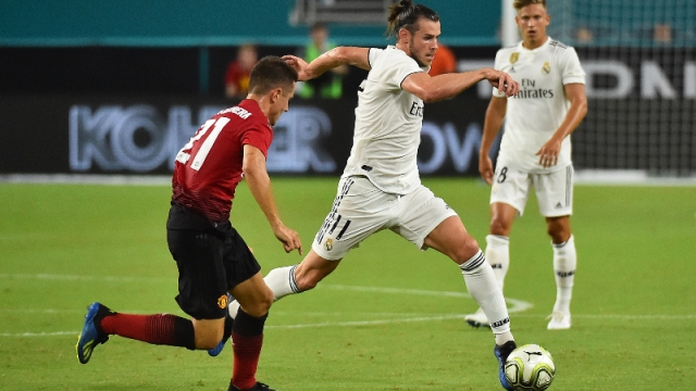 Real Madrid forward Gareth Bale and Manchester United midfielder Ander Herrera