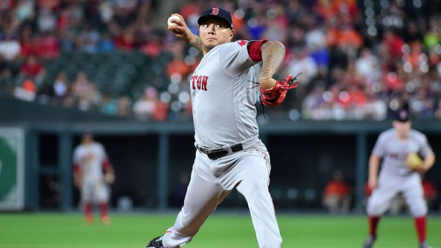 Boston Red Sox starting pitcher Hector Velazquez