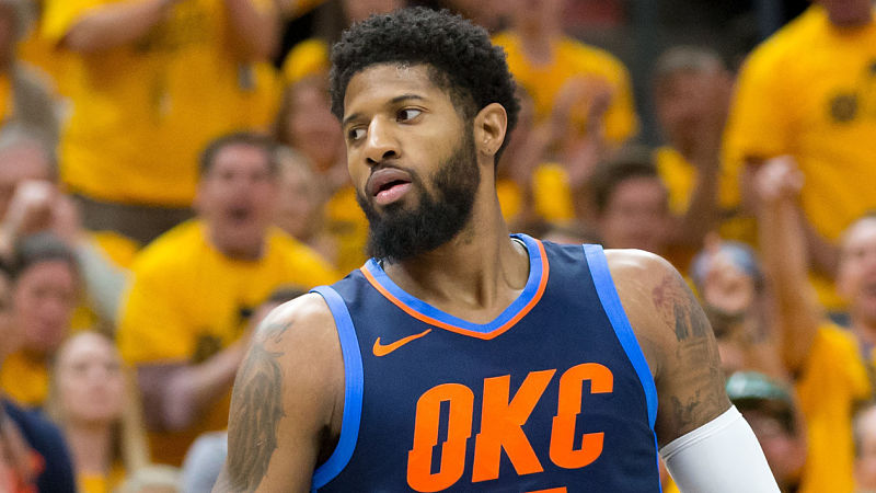 Thunder S Paul George Shaves Beard Looks Completely Unrecognizable Nesn Com