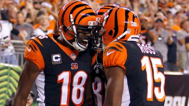 Cincinnati Bengals quarterback Andy Dalton and receiver A.J. Green