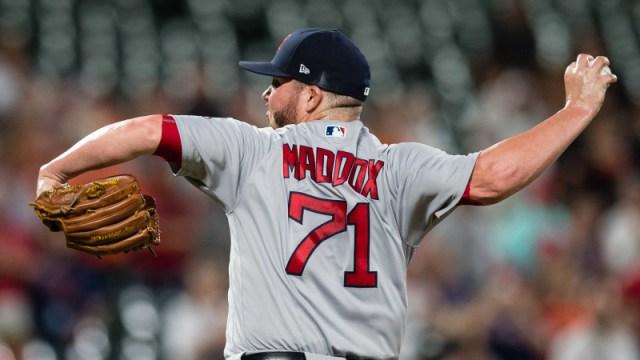 Boston Red Sox pitcher Austin Maddox