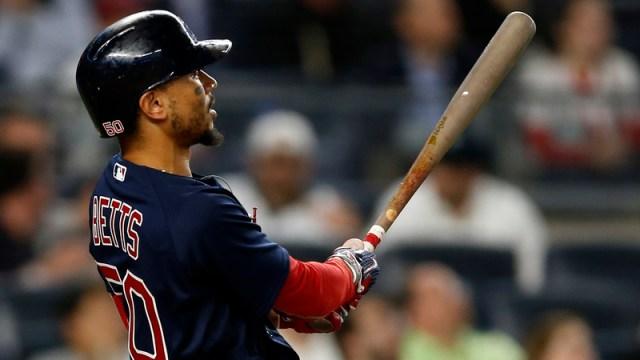 Boston Red Sox Designated Hitter Mookie Betts