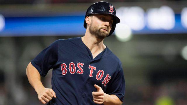 Boston Red Sox outfielder Sam Travis