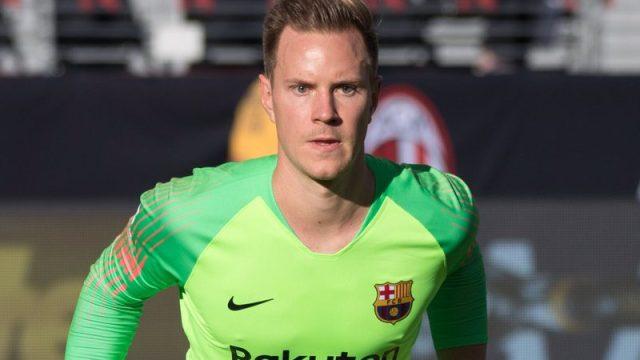 Barcelona goalkeeper Marc Ter Stegen