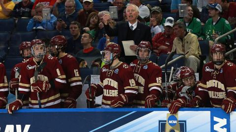 Boston College hockey head coach Jerry York