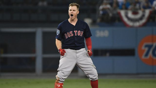 Boston Red Sox infielder Brock Holt