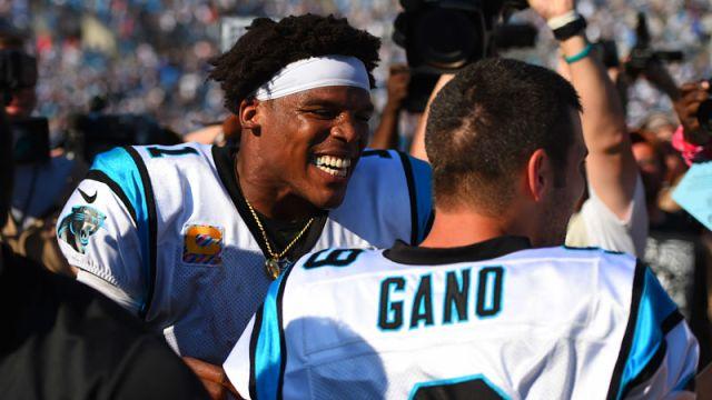 Carolina Panthers quarterback Cam Newton and kicker Graham Gano