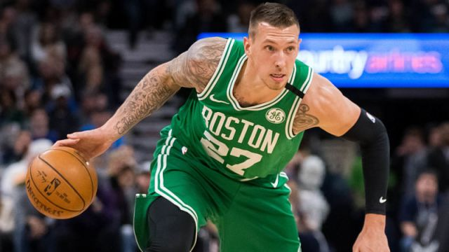Boston Celtics forward Daniel Theis