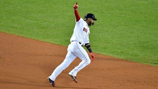 Boston Red Sox infielder Eduardo Nunez