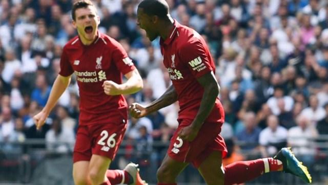 Liverpool midfielder Georginio Wijnaldum and defender Andrew Robertson