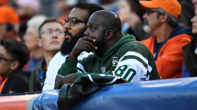 Jets fan at a Broncos game