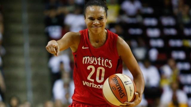 Washington Mystics guard Kristi Toliver