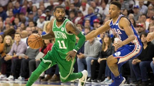Boston Celtics Guard Kyrie Irving And Philadelphia 76ers Guard Markelle Fultz
