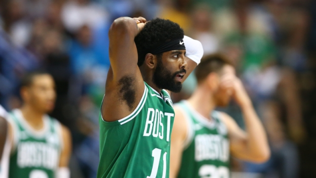 Boston Celtics point guard Kyrie Irving