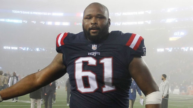 Patriots right tackle Marcus Cannon