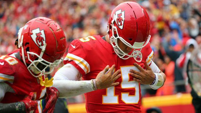 Kansas City Chiefs quarterback Patrick Mahomes and wide receiver Tyreek Hill