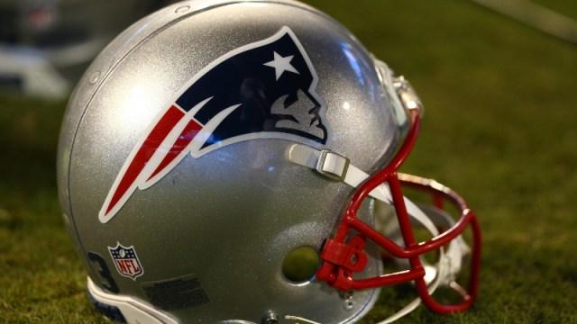 A New England Patriots helmet