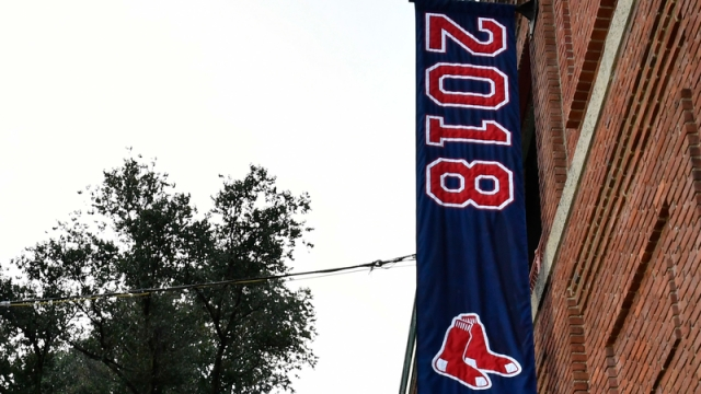 Red Sox World Series banner