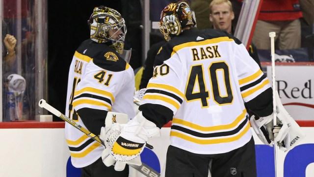 Boston Bruins Goalies Tuukka Rask And Jaraslov Halak