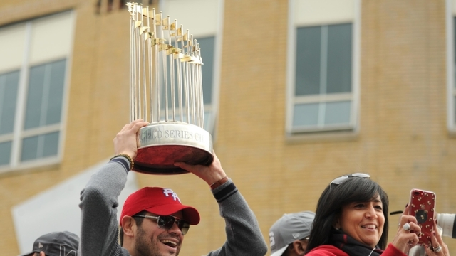 Red Sox's World Series trophy