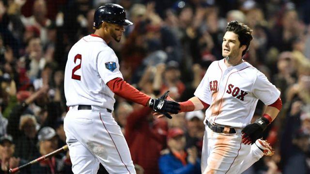 Boston Red Sox shortstop Xander Bogaerts and left fielder Andrew Benintendi
