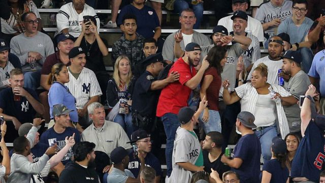 Boston Red Sox fans and New York Yankees fans