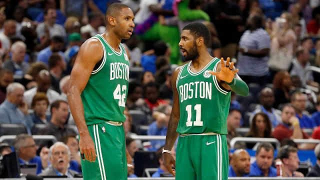 Boston Celtics forward Al Horford and guard Kyrie Irving
