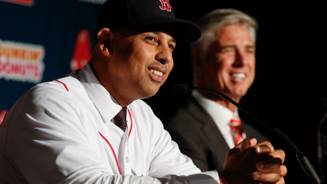 Red Sox manager Alex Cora and president of baseball operations Dave Dombrowski