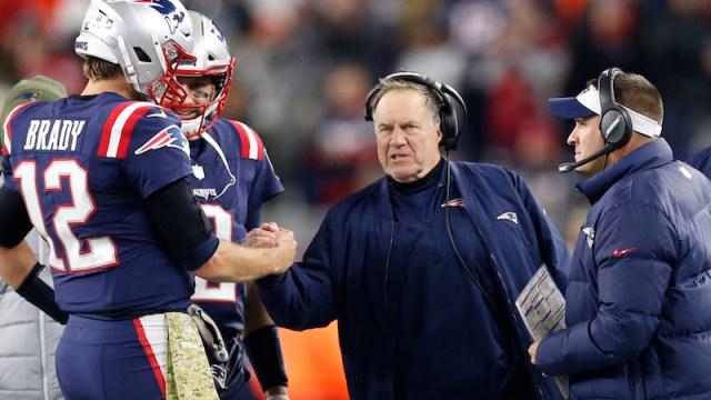 Patriots quarterback Tom Brady, head coach Bill Belichick