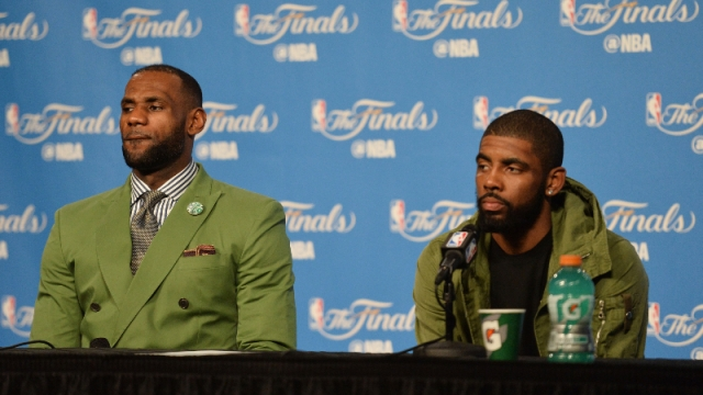LeBron James (left) and Kyrie Irving