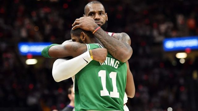 Los Angeles Lakers' LeBron James And Brooklyn Nets' Kyrie Irving