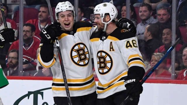 Boston Bruins Defenseman Charlie McAvoy And Center David Krejci