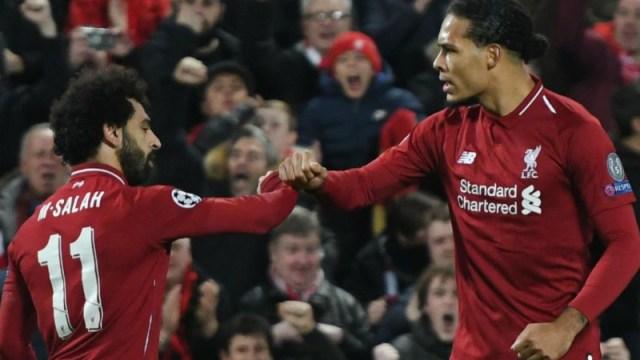 Liverpool forward Mohamed Salah (left) and defender Virgil van Dijk