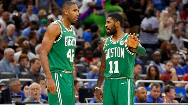 Boston Celtics forward Al Horford and Kyrie Irving