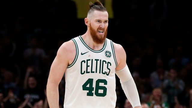 Boston Celtics center Aron Baynes