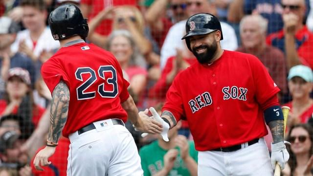 Boston Red Sox Catchers Blake Swihart And Sandy Leon